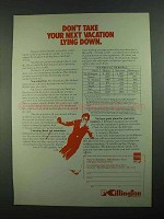 1981 Killington Vermont Ad - Don't Take Lying Down