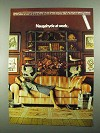1981 Naugahyde Brand Fabric Ad - Naugahyde at Work