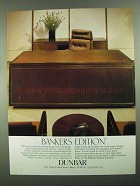 1981 Dunbar Bankers Edition Office Furniture Ad