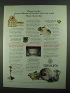 1981 Tiffany & Co. Museum of Decorative Arts Ad