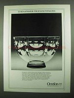 1981 Orrefors Tusen Fonster / Thousand Windows Bowl Ad