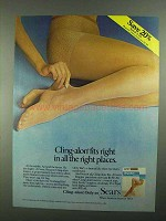 1981 Sears Cling-alon Hosiery Ad - In the Right Places