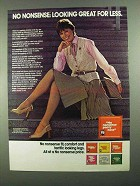 1981 No Nonsense Panty Hose Ad - Great for Less