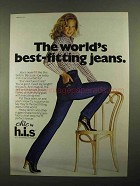 1981 h.i.s. Chic Jeans Ad - World's Best-Fitting