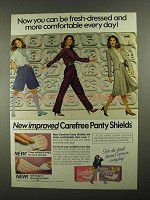 1981 Carefree Panty Shields Ad - Be Fresh-Dressed