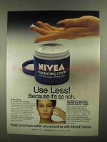 1981 Nivea Moisturizing Cr?me Ad - Use Less!