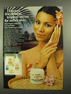 1981 Pond's Cream & Cocoa Butter Ad - Tropical Secret
