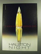 1981 Halston Night Perfume Advertisement