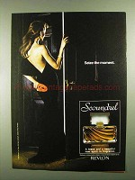 1981 Revlon Scoundrel Perfume Ad - Seize the Moment