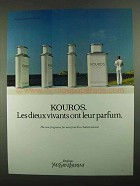 1981 Yves Saint Laurent Kouros Cologne Ad
