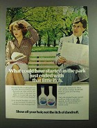 1981 Head & Shoulders Shampoo Ad - Started in Park