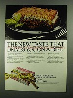 1981 Weight Watchers Frozen Lasagna Ad - Drives You