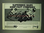 1981 K&N Superbike Bars Ad - Keep Fast Company