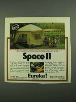 1981 Eureka! Space II Tent Ad - Stands Tall Packs Small
