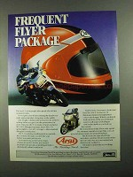 1988 Arai F-1 Motorcycle Helmet Ad - Frequent Flyer