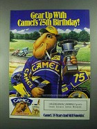 1988 Camel Cigarettes Ad - Gear Up with 75th Birthday