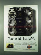 1988 Nissan Pickup Truck Ad - You Coulda Had a V6