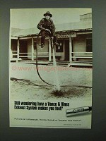 1988 Vance & Hines Exhaust System Ad - Still Wondering How