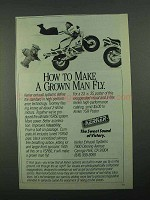 1988 Kerker YSR50 Exhaust System Ad - Make Man Fly