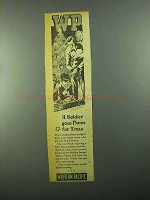 1943 Western Pacific Ad - A Soldier Goes Home for Xmas
