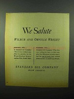 1943 Standard Oil Ad - We Salute Wilbur Orville Wright