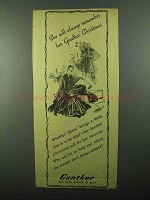 1943 Gunther Mink Coat and Fur Scarfs Ad - Remember