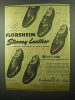1943 Florsheim Shoes Ad - Viking, Highland