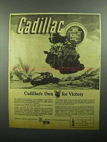 1943 Cadillac M-5 Tank Ad - Own V for Victory
