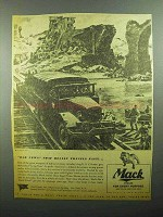 1943 Mack Prime Mover Trucks Ad - Long Tom 155mm Gun