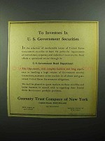 1943 Guaranty Trust Company of New York Ad