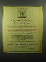 1943 Guaranty Trust Company of New York Ad - Service