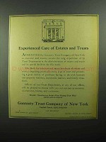 1943 Guaranty Trust Company of New York Ad - Estates