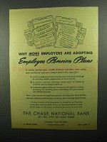 1943 Chase National Bank Ad - Employers are Adopting