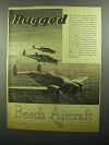 1943 Beech AT-11 Bombing Trainers Ad - Rugged