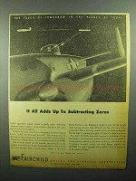1943 Fairchild Gunner Trainer Ad - Subtracting Zeros