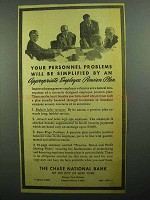 1943 Chase National Bank Ad - Employee Pension Plan