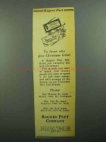 1943 Rogers Peet Clothing Ad - To Firms Who Give