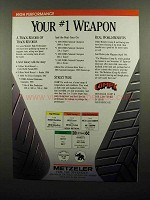 1990 Metzeler Tires Ad - Your #1 Weapon