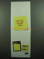 1990 3M Post-it Note Pads Ad - Hold That Thought Here