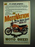1990 Moto Guzzi Mille GT Motorcycle Ad - Gorgeous