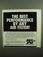 1990 K&N Filtercharger Ad - The Best Performance