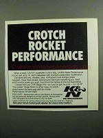 1990 K&N Intake Performance Kit Ad - Crotch Rocket