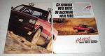 1990 2-page Chevy S-10 Baja 4x4 Pickup Ad - Go Forward