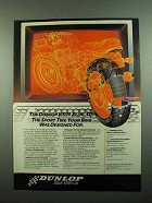 1989 Dunlop K591 Elite SP Tire Ad - Your Bike Designed