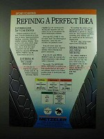 1989 Metzeler Tires Ad - Refining a Perfect Idea