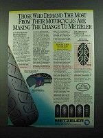 1989 Metzeler Tires Ad - Those Who Demand The Most
