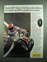 1989 Pirelli MP7 Sport Tire Ad - Graded on a Curve