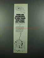 1989 IRS Internal Revenue Service Ad, Taxes Less Taxing