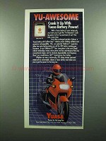 1989 Yuasa YuMicron CX Battery Ad - Crank It Up