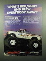 1989 Chevy USA-1 Monster Truck Ad - Red, White and Blew